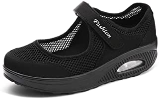 Femmes Minceur Chaussures Taille 35-42eu Marche Baskets Plate-Forme Chaussures Poids Air Léger Engrener Elastic Sports en ...