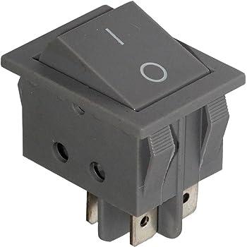 AERZETIX Interrupteur commutateur contacteur bouton /à bascule noir DPST ON-OFF 16A//250V 20A//28V 2 positions