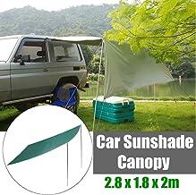 W&TT Carpa de Coche Plegable Parasol al Aire Libre Carports Impermeable Camping Techo Tienda Superior Anti-UV Toldos para el automóvil Refugio para el Sol Toldo portátil Tamaño 2.8 x 1.8 m,Green