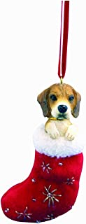 Beagle Christmas Stocking Ornament with