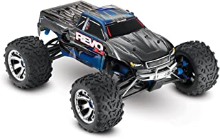 Traxxas Revo 3.3: 1/10 Scale 4WD Nitro-Powered Monster Truck with TQi 2.4GHz Radio & TSM, Blue