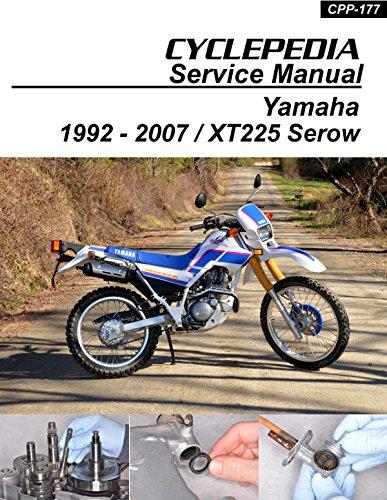 CPP-177-P Yamaha XT225 Serow Cyclepedia Motorcycle Service Manual in Print