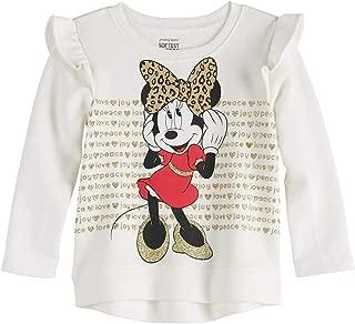 Shop Disney Mickey, Minnie Mouse, Daisy Duck Baby Girl Glittery Graphic Softest Fleece Sweatshirt