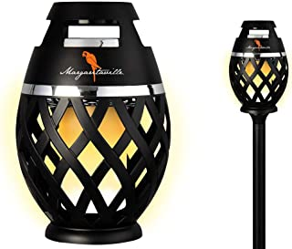 Margaritaville Sounds of Paradise Outdoor Tiki Torch Bluetooth Light-Up Speaker- No Flame LED Lanterns/Lamp. Outside Patio Lights/Lantern Portable Blue Tooth Tiki Torch Stereo Speakers with Pole