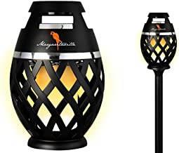 Two Pack Margaritaville Sounds of Paradise Outdoor Tiki Torch Bluetooth Light-Up Speaker- No Flame LED Lanterns/Lamp. Outside Patio Lights/Lantern Portable Blue Tooth Tiki Torch Stereo Speakers