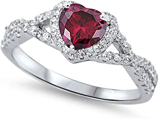 Best silver ruby heart ring Reviews