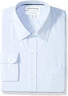 Amazon Essentials Men's Regular-Fit Long-Sleeve Solid Dress Shirt