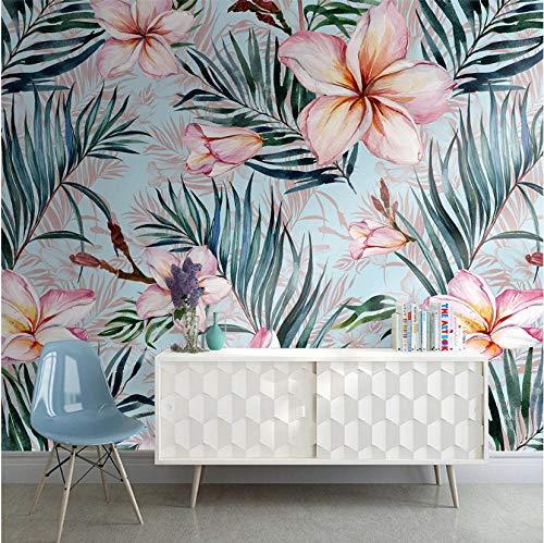 Flor hojas papel pintado mural dormitorio sala de estar hogar fondo pared 430×300cm