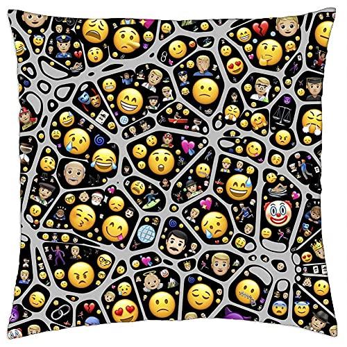 N\A Cojín Cojín Mental Emojis Emoticonos Iconos Símbolos Funciones