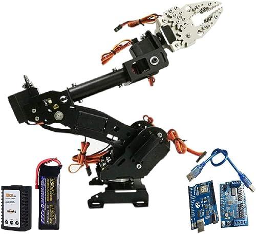 mejor reputación SM SunniMix Servo Arduino Brazo Robótico Mecanismo 8 DOF con con con Control Wireless Color negro - B  tienda de bajo costo