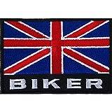Bandera de Reino Unido motorista parche bordado hierro/sew en la chaqueta Insignia motocicleta moto