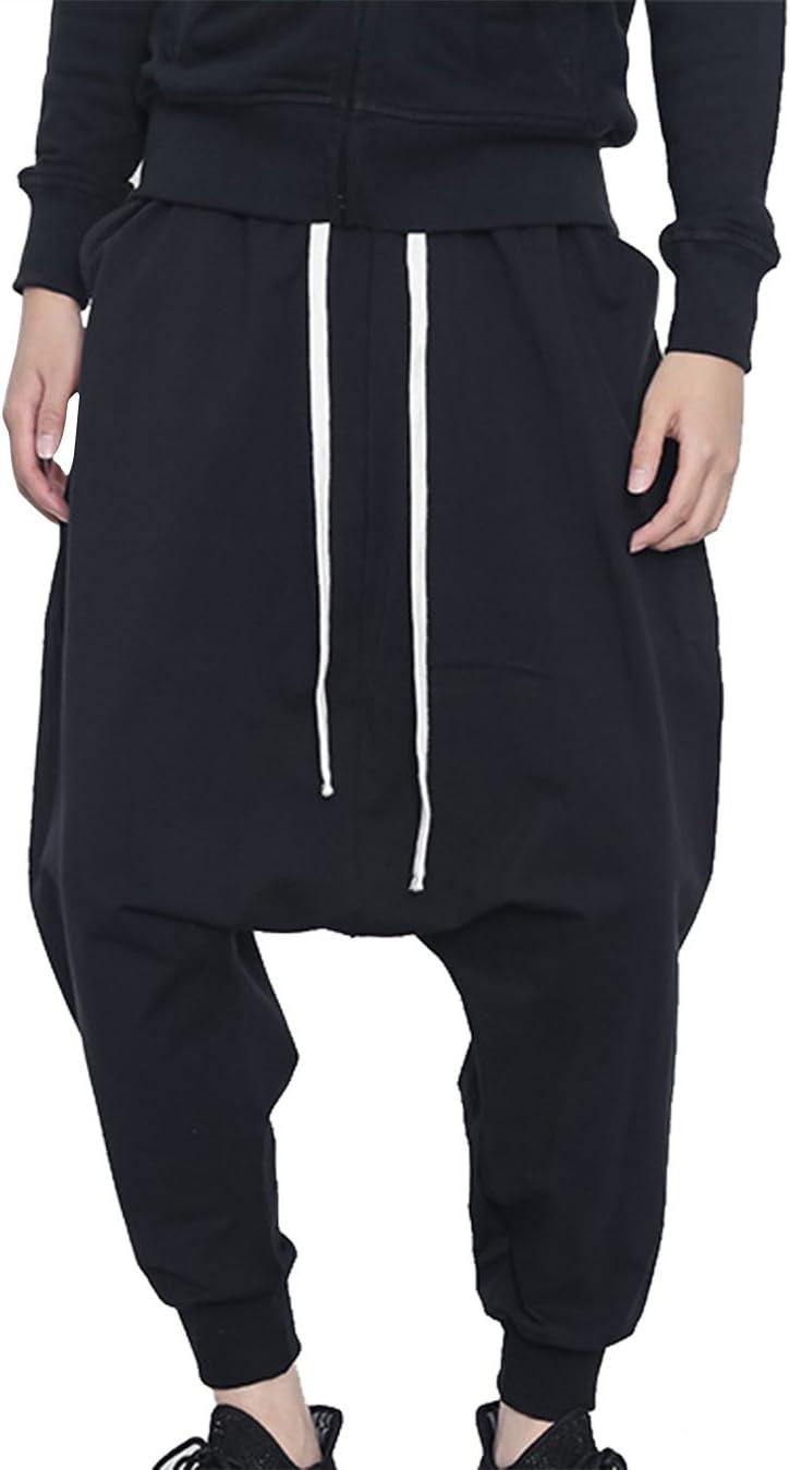Panegy Men's Hip-hop Pants Casual Ranking TOP19 Harem Max 87% OFF Crotc Drop Jogging