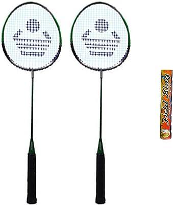 CB-110 Badminton Racket Pair with Field King Badminton Shuttle Cock (Pack of 10)- Badminton Kit