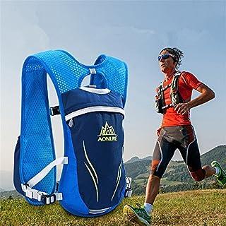 Unisex 5.5L Running Race Hidratación Chaleco Hidratación Pack Mochila