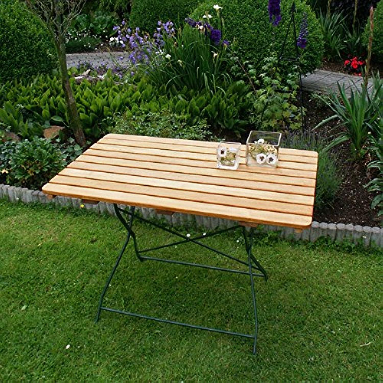 Gartentisch BAD TLZ 70x110 cm grün, Robinienholz, klappbar