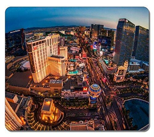 Preisvergleich Produktbild Sun-Virgor Mauspad,  groß,  länglich,  Las Vegas Casino Naturkautschuk Design,  langlebig,  Computer-Zubehör,  Gaming Mauspad als Geschenk