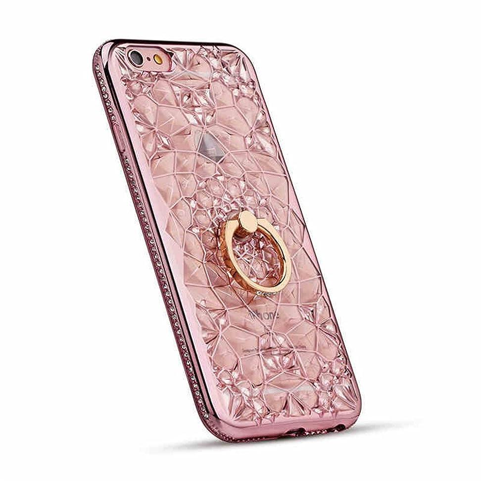(ギジ)GIZEE iPhone 7 Plus iPhone 8 Plus専用 かわいい おしゃれ キラキラ 女性向け レディース アイフォン 7 Plus カバー クリア 5.5インチ クリスタル シリコン 落下防止リング付き ケース (ローズゴールド)