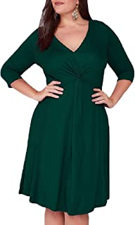 fe490d9773a Fieer Womens Cozy Plus Size Baggy Fashion A-line Midi Casual Dress