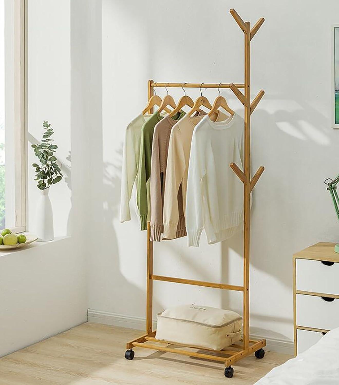 Coat Rack Simple Coat Rack Floor Bedroom Hanger Parlor Clothes Rack Storage Rack Household Rack (Size   60CM)