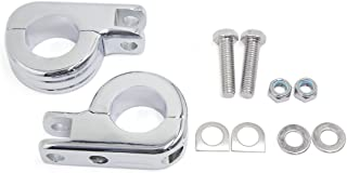 uxcell 1.25 inches 1 1/4 inches Chrome Highway Offset P Clamp Footpegs Mount Kit For Harley Davidson Engine Guard Bar Universal