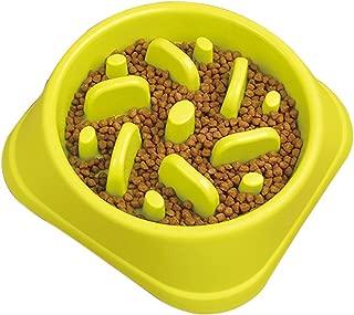 STARUBY Slow Feeder Dog Bowl, Slow Feed Dog Bowl Dog Food Bowls to Slow Down Eating Eco-Friendly Medium Size Green