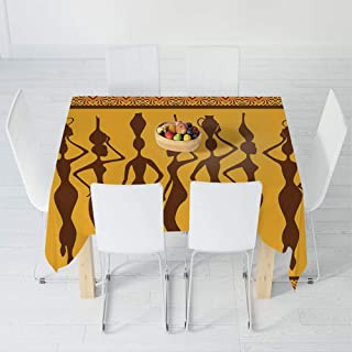 TecBillion Polyester Tablecloth,Afro Decor,for Wedding Banquet Restaurant,30.3 X 28.3 Inch,Silhouette of Sexy Female Bodies Exotic Design