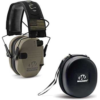 Slim Electronic Hearing Protection Muffs with Sound Amplification and Suppressio