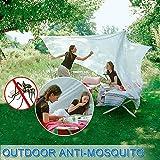 Moskitonetz, yotame rechteckiger Mückennetz für Bett, Reise Moskitonetz Hochwertig Feinmaschig für Doppelbett, Betthimmel für Moskitoschutz, Insektenschutz auf der Reise, Grösse: 230 x 220 x 235 cm - 4