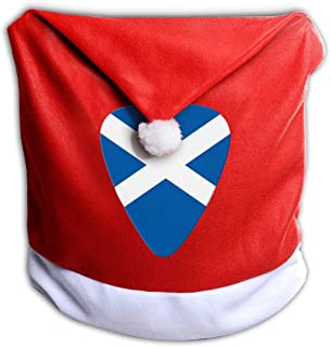 Lponvx Scotland Flag Guitar Xmas Red Chair Covers Kitchen Chair Covers for Home Decor 1 Pcs
