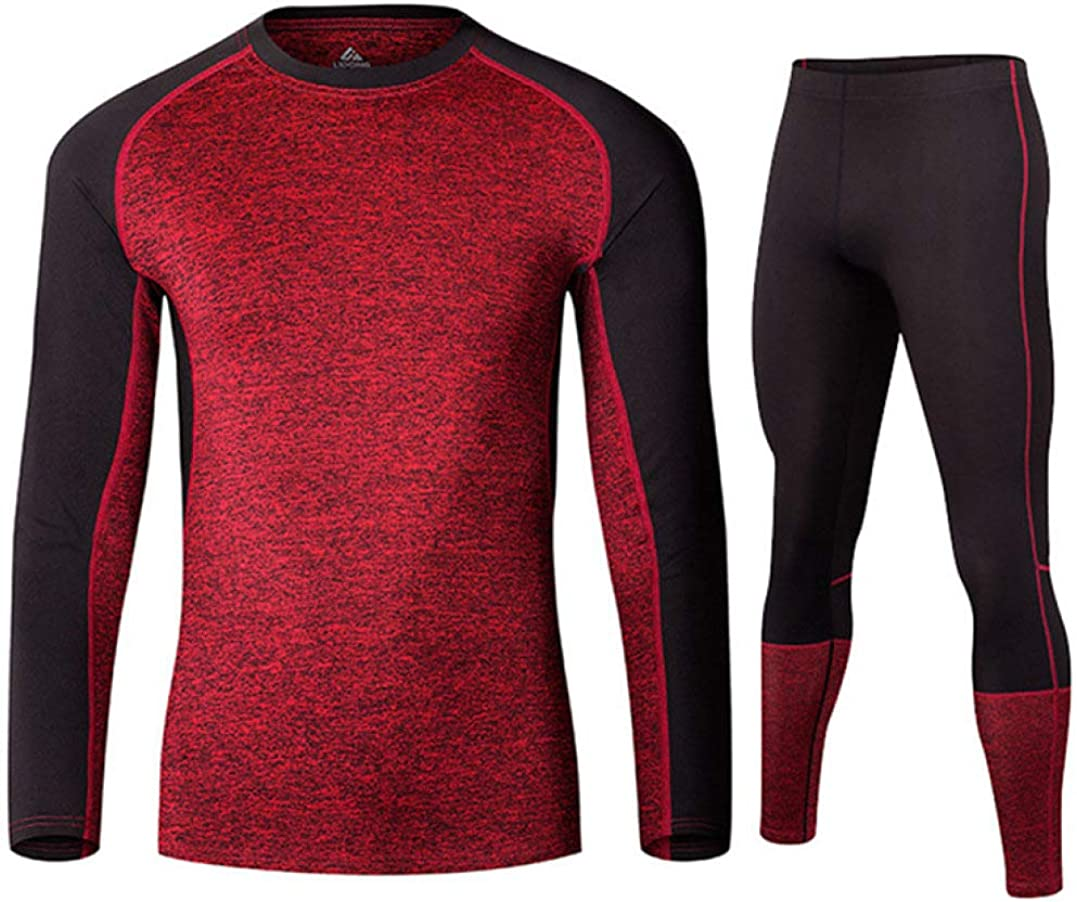 Winter Warm Mens Thermal Underwear Set Stretchy Compression Base Layer Sports Long Johns