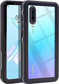 Hertekdo Funda para Huawei P30, IP68 Funda Impermeable para Huawei P30 con Kickstand Absorción de Choque Resistente Huawei...