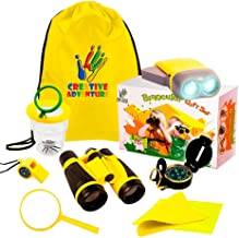 Outdoor Exploration 10 Piece Kit | Kids Binocular, pretend Bug and collector, Flashlight, Compass, Magnifying Glass, Whistle & Backpack | Boys Girls Gift Age 3,4,5,6,7,8,9 | Educational, in & Outdoor