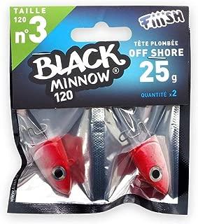 Fiiish Black Minnow 90//2 Jig Heads Off Shore 10g Khaki