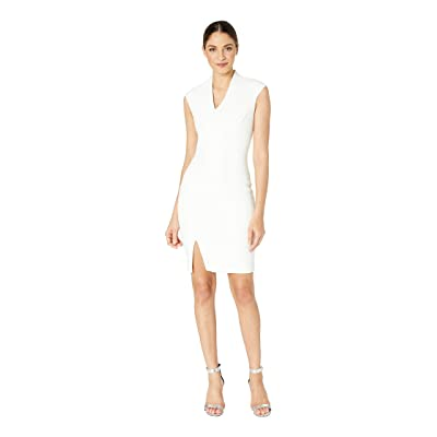 Ted Baker Geodese Narnia Wrap Front Pencil Dress (Ivory) Women