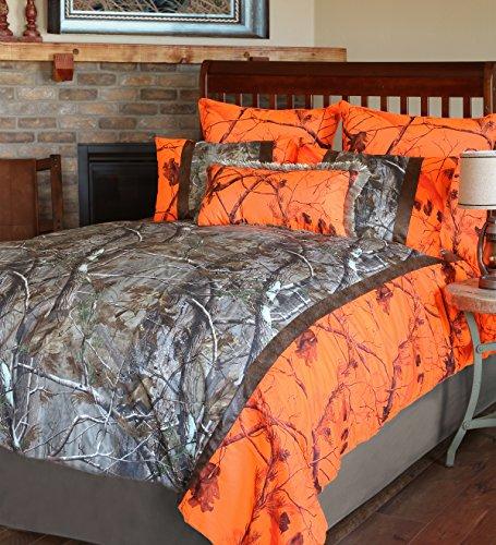 Carstens Realtree Camo AP Blaze 3 Piece Comforter Bedding Set, Twin