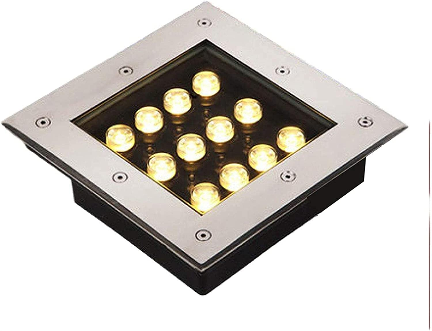 New Free Shipping MWKLW 12W Outdoor In-Ground Max 87% OFF Lights Glass Steel Square Stainless