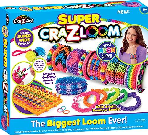 WDK Partner CRA-z-Loom - Kkczl06 - Kit De Loisirs Créatifs - Super + Mini-Loom - 6 Points De Croix Offert