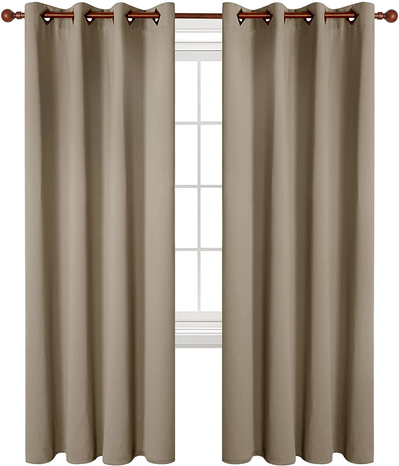 Deconovo Grommet Top Blackout Curtains Insulated Room Thermal Da Max 84% Regular store OFF