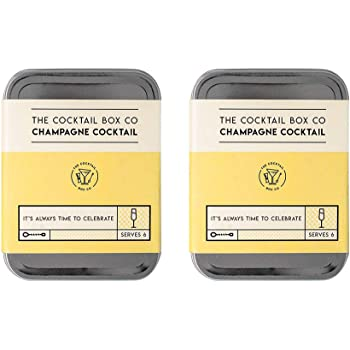 The Champagne Cocktail Kit by The Cocktail Box Co. - Makes 6 Premium Hand Crafted Cocktails. Great gift for any cocktail lover and makes the perfect travel companion! (2 Kits)