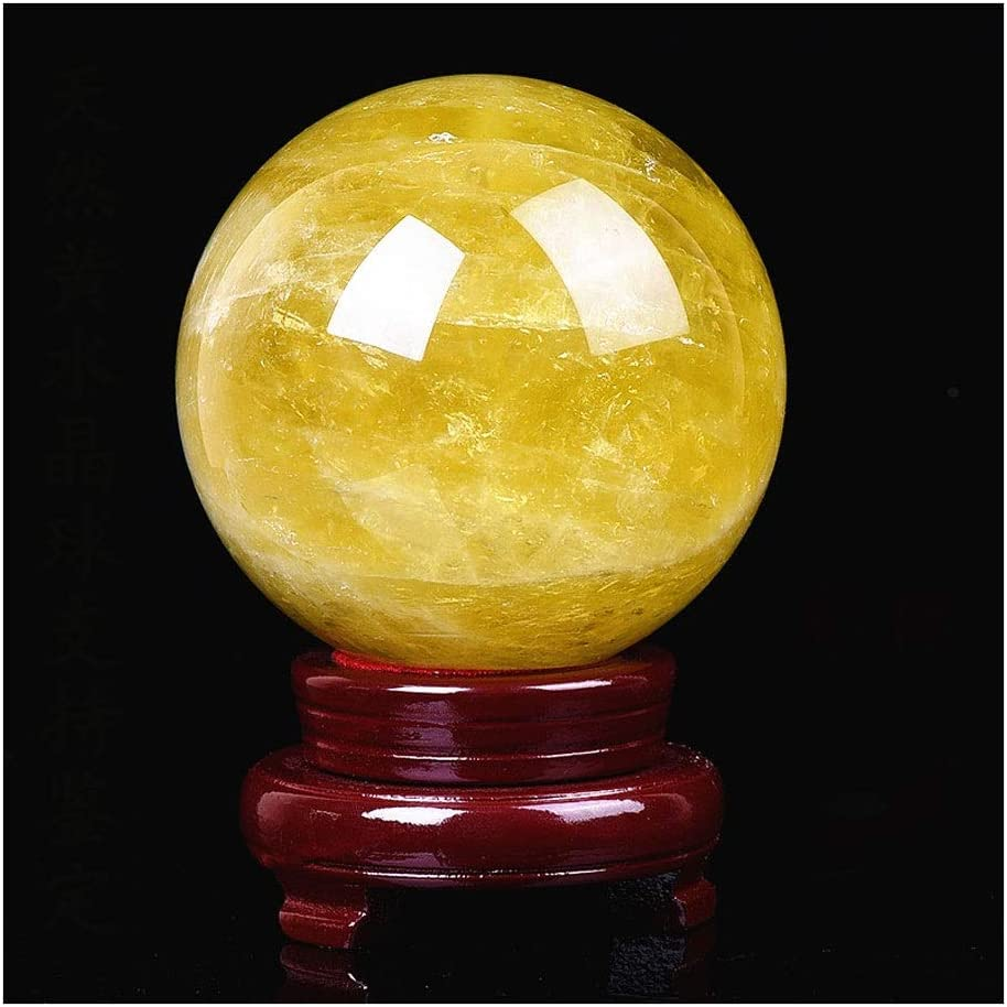 OUMIFA Crystal Ball Natural Yellow Super beauty product restock quality top famous Crysta Household
