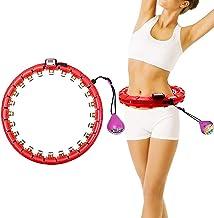 Smart Hula Hoop Hula Hoop met LED- verlichting Gravity Ball Weighted Hula Hoops Intelligent Circle Hoop Magnetic Massage I...