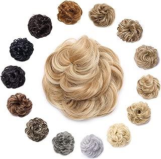 Messy Hair Bun Synthetic Scrunchy Donut Wavy Updo Elastic Scrunchie Wedding Hair Pieces Bridal Hairpiece Updos for Women Kids