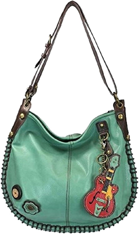 Chala Purse Handbag Hobo Cross Body Congreenible Teal Guitar Bag