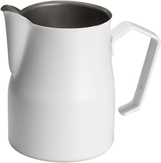 Motta Stainless Steel Professional Milk Pitcher/Jugs, 11.8 Fluid Ounce, White