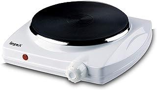 Impex HP-102 Electric Hot Single Plate Thermostat Control Auto Shut Non Skid feet (1500 Watts,White)