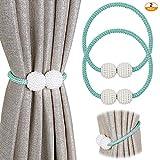 Pinowu - Alzapaños magnéticos para cortinas, alzapaños de ventana, para el hogar, oficina,...