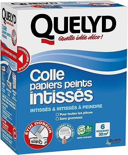 Quelyd Colle Papiers Peints Intissés – Toutes Pièces - Application Directement Au Mur – Dosage Ultra Facile – Sans Gr...