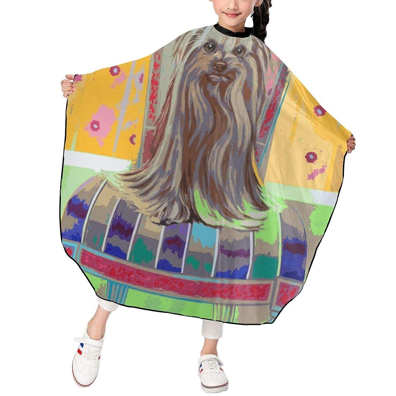 撃退するタイル月曜イラストレーション 静か マルテスコ犬 椅子 散髪ケープ ヘアーエプロン 子供 ヘアカット 家用 美容室 髪の毛剃り 操作やすい 散髪 撥水 静電気防止 柔らか 滑らか 高級感 人気 男女兼用 プレゼント