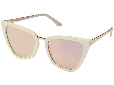 QUAY AUSTRALIA Quay x JLo Reina (Pearl/Rose) Fashion Sunglasses
