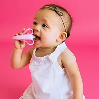 Baby Banana - Pink Banana Toothbrush, Training Teether Tooth Brush for Infant, Baby, and Toddler